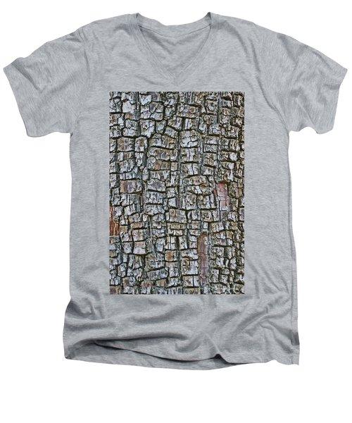Juniper Bark- Texture Collection Men's V-Neck T-Shirt by Tom Janca