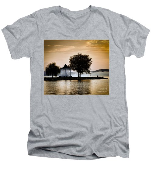 Men's V-Neck T-Shirt featuring the photograph Just Before Sunrise by Kerri Farley