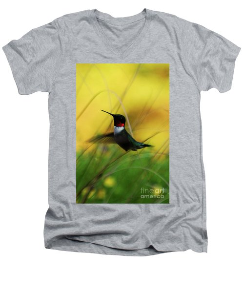 Just Flying Men's V-Neck T-Shirt