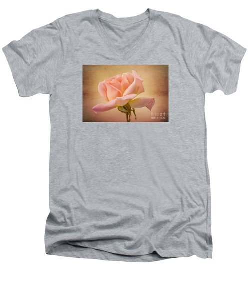 Just Peachy Men's V-Neck T-Shirt by Clare Bambers