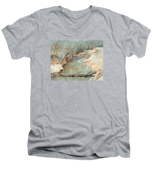 Just Resting Men's V-Neck T-Shirt by Lee Beuther