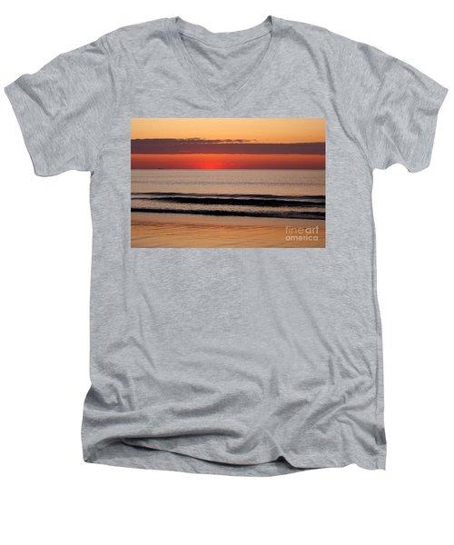 Just Showing Up Along Hampton Beach Men's V-Neck T-Shirt