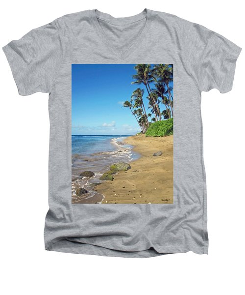 Ka'anapali Beach Men's V-Neck T-Shirt