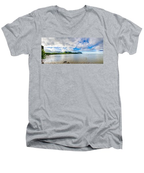 Kahaluu Fish Pond Panorama Men's V-Neck T-Shirt