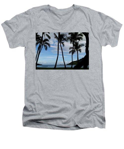 Kalapaki Beach Kauai Men's V-Neck T-Shirt