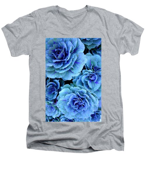 Kale Men's V-Neck T-Shirt by Laurie Perry