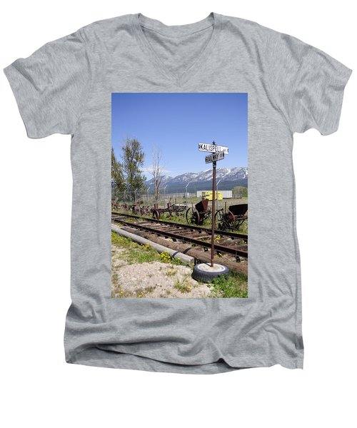 Kalispell Crossing Men's V-Neck T-Shirt