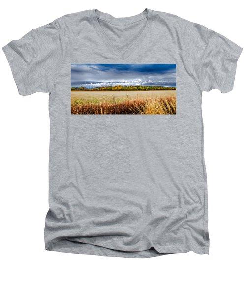 Kansas Fall Landscape Men's V-Neck T-Shirt