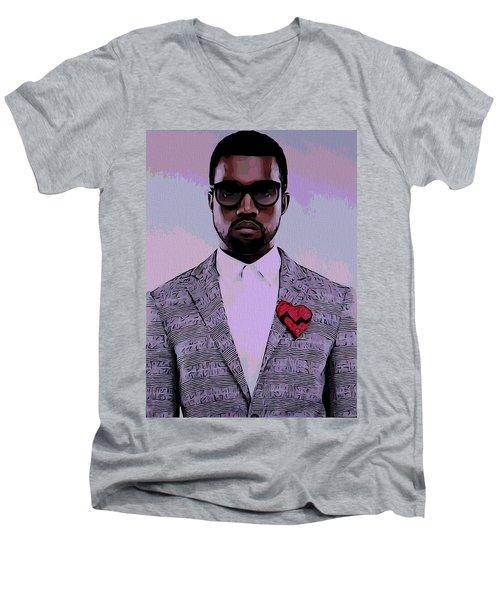 Kanye West Poster Men's V-Neck T-Shirt