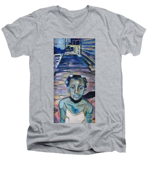 Katrina 1 Year Later Men's V-Neck T-Shirt