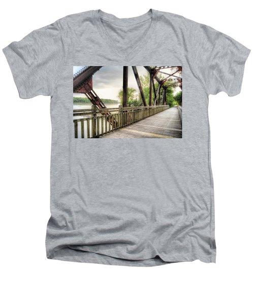 Katy Trail Near Easley Men's V-Neck T-Shirt