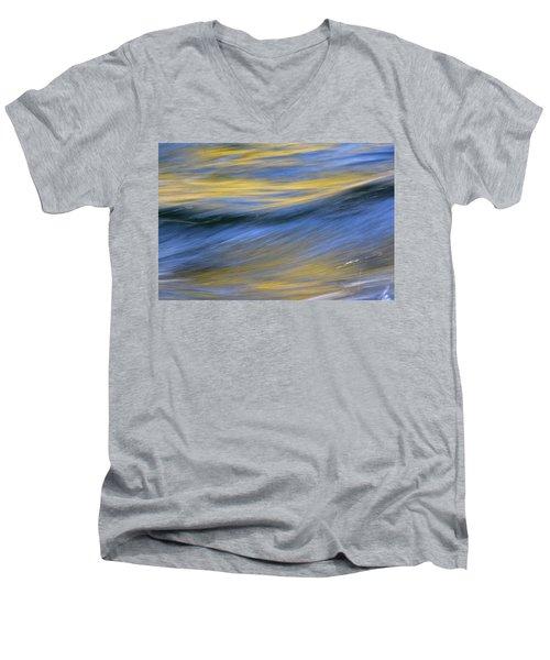 Men's V-Neck T-Shirt featuring the photograph Kawaakari by Cathie Douglas