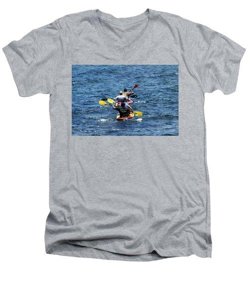 Kayaking In Hawaii  Men's V-Neck T-Shirt