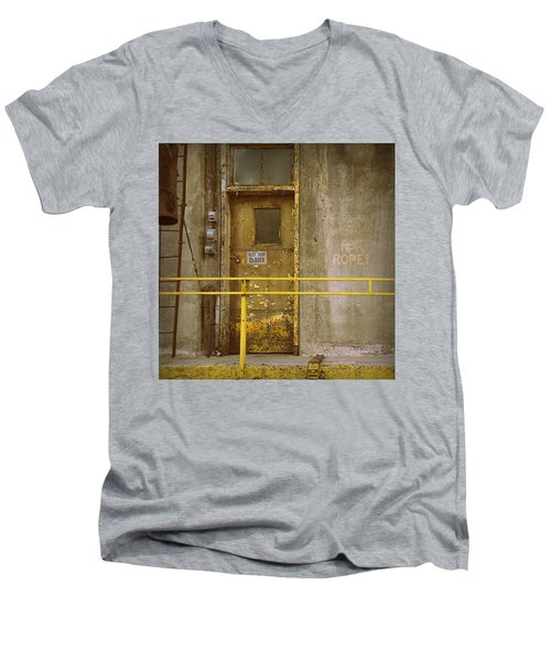 Men's V-Neck T-Shirt featuring the photograph Keep Door Closed by Joseph Skompski