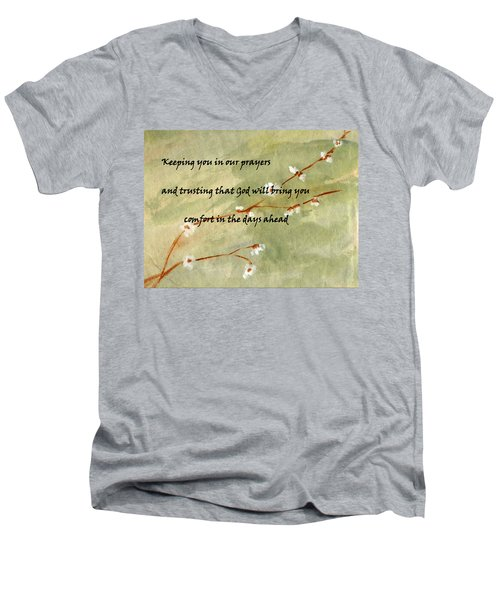 Keeping You In Our Prayers Men's V-Neck T-Shirt