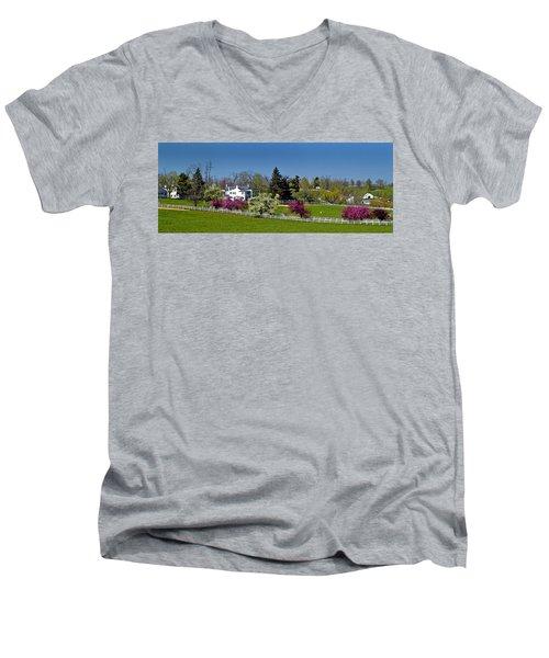 Kentucky Horse Farm Men's V-Neck T-Shirt