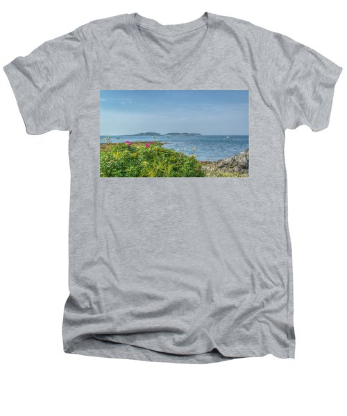 Men's V-Neck T-Shirt featuring the photograph Kettle Cove by Jane Luxton