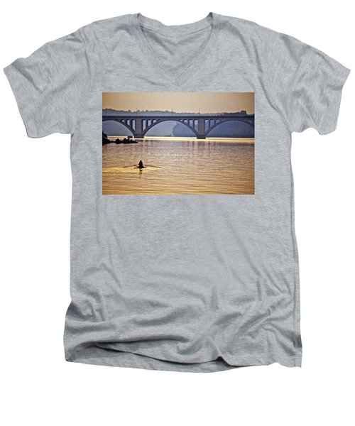 Key Bridge Rower Men's V-Neck T-Shirt