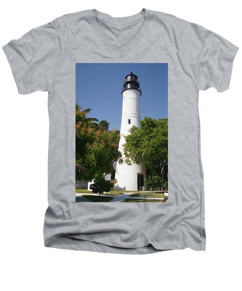 Key West Lighthouse Men's V-Neck T-Shirt