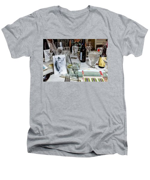 Kf 176 Men's V-Neck T-Shirt by Kathleen K Parker