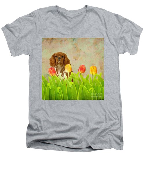 King Charles Cavalier Spaniel Men's V-Neck T-Shirt