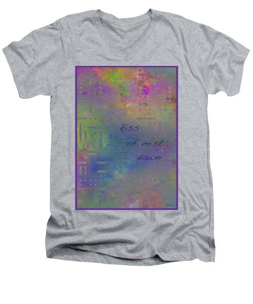 Kiss Of Mist Haiga Men's V-Neck T-Shirt