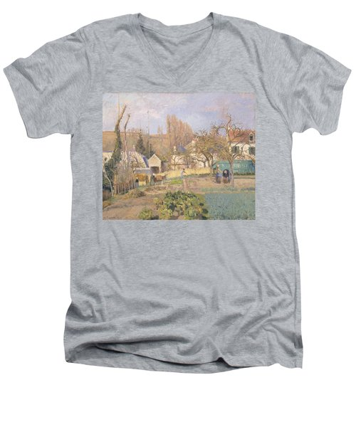 Kitchen Garden At The The Lhermitage, Pontoise, 1874 Oil On Canvas Men's V-Neck T-Shirt