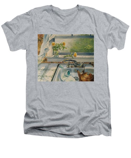 Kitchen Sink Men's V-Neck T-Shirt by Joy Nichols