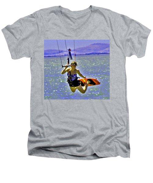 A Kite Board Hoot Men's V-Neck T-Shirt