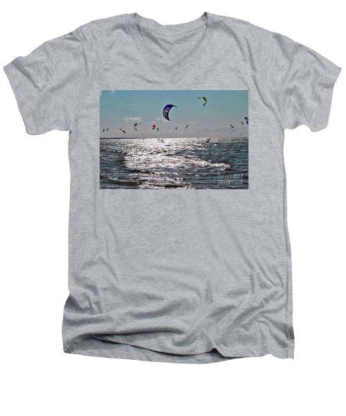 Kitesurfing Men's V-Neck T-Shirt