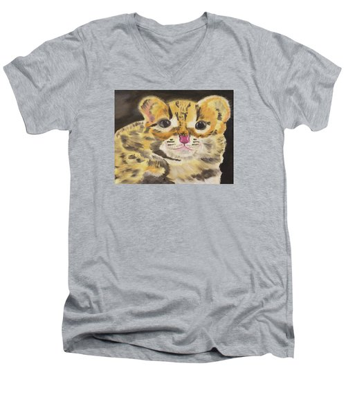 Peek A Boo Kitty Men's V-Neck T-Shirt