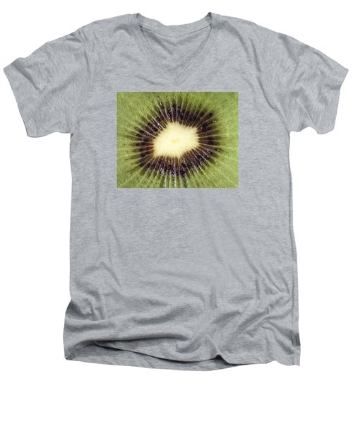 Men's V-Neck T-Shirt featuring the photograph Kiwi Cut by Dreamland Media