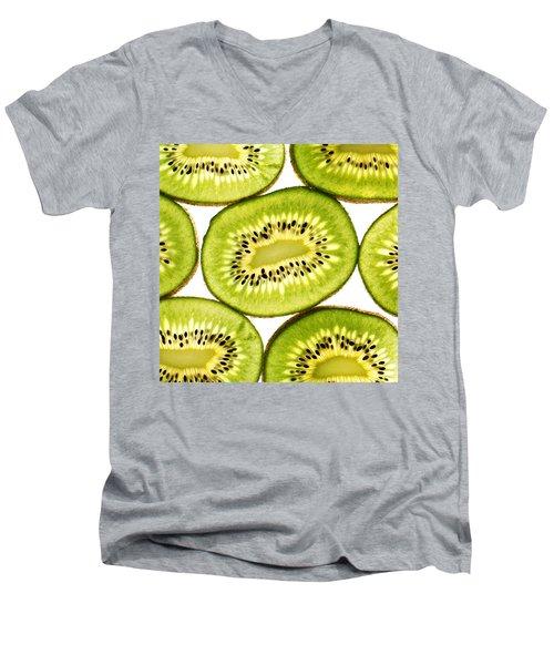 Kiwi Fruit IIi Men's V-Neck T-Shirt by Paul Ge