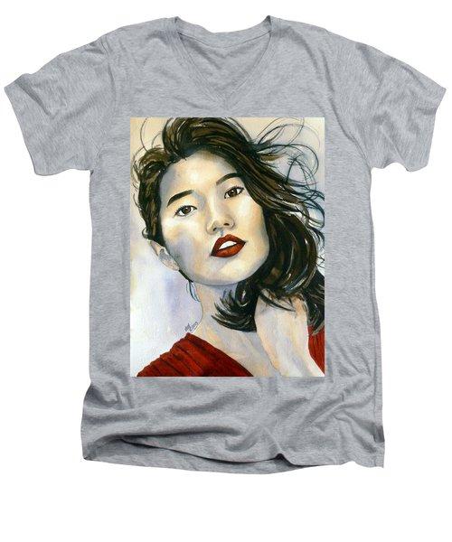 Kiyomi Men's V-Neck T-Shirt