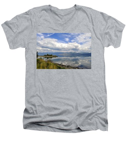 Men's V-Neck T-Shirt featuring the photograph Kluane Reflections by Cathy Mahnke