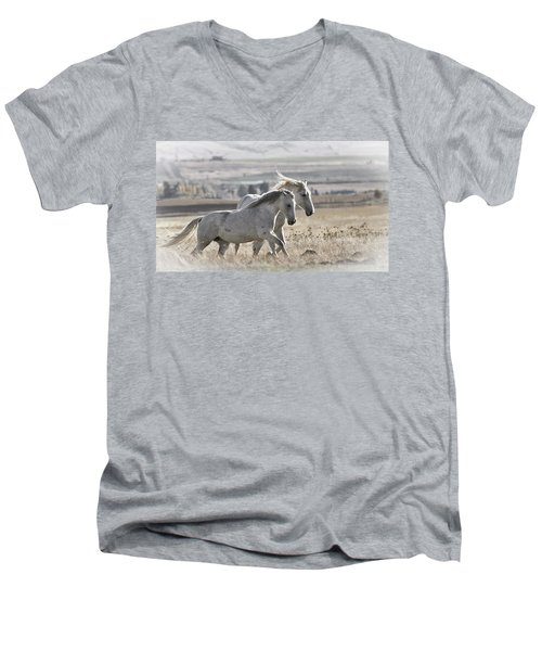 Knee Deep Men's V-Neck T-Shirt by Wes and Dotty Weber