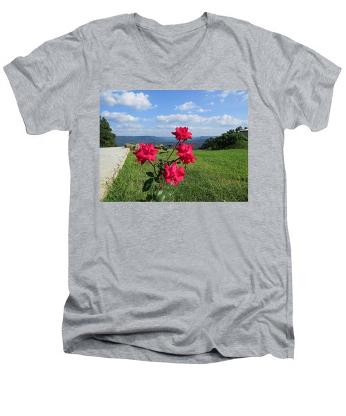 Knock Out Rose Men's V-Neck T-Shirt