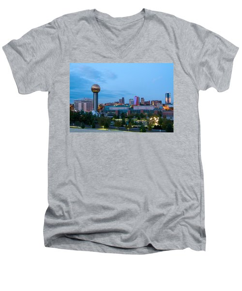 Knoxville At Dusk Men's V-Neck T-Shirt