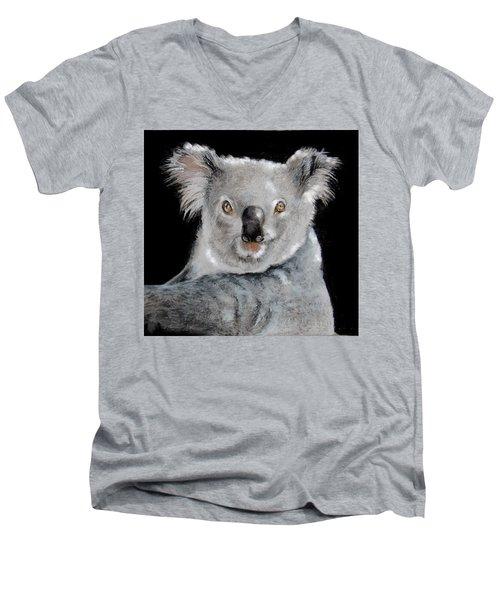Koala Men's V-Neck T-Shirt by Jean Cormier