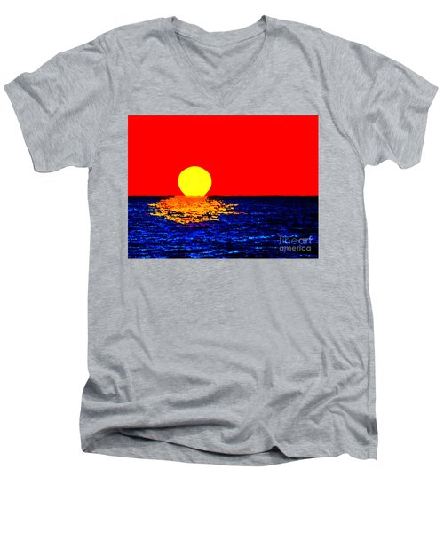 Kona Sunset Pop Art Men's V-Neck T-Shirt