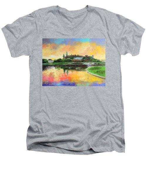 Krakow - Wawel Castle Men's V-Neck T-Shirt