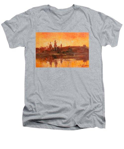 Krakow - Wawel Impression Men's V-Neck T-Shirt