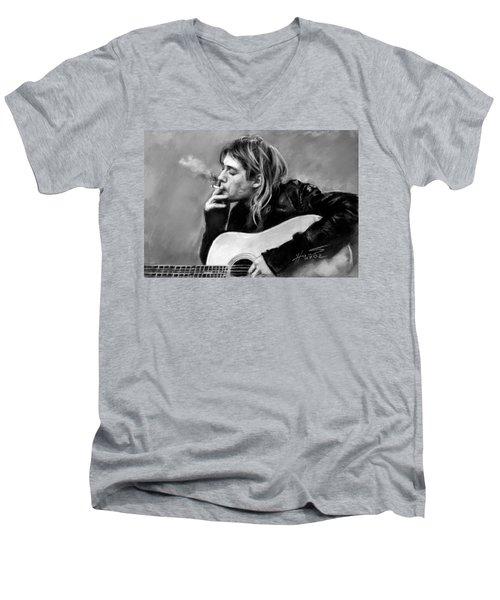 Kurt Cobain Guitar  Men's V-Neck T-Shirt