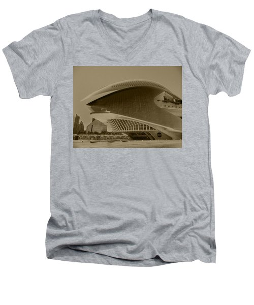 L' Hemisferic - Valencia Men's V-Neck T-Shirt