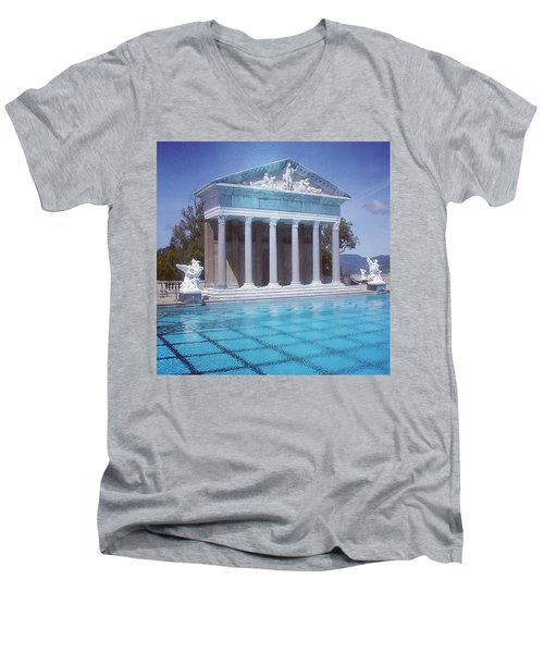 La Dolce Vita At Hearst Castle - San Simeon Ca Men's V-Neck T-Shirt