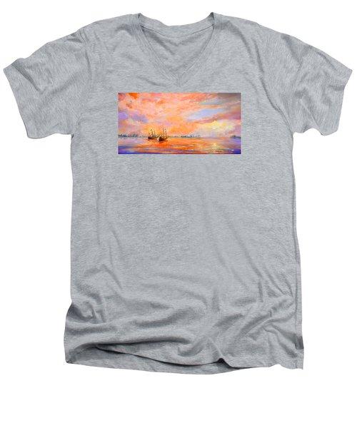 La Florida Men's V-Neck T-Shirt by AnnaJo Vahle