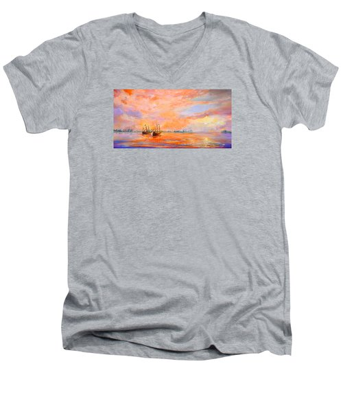 La Florida Men's V-Neck T-Shirt