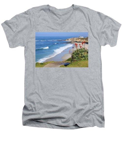 La Jolla Beach Men's V-Neck T-Shirt