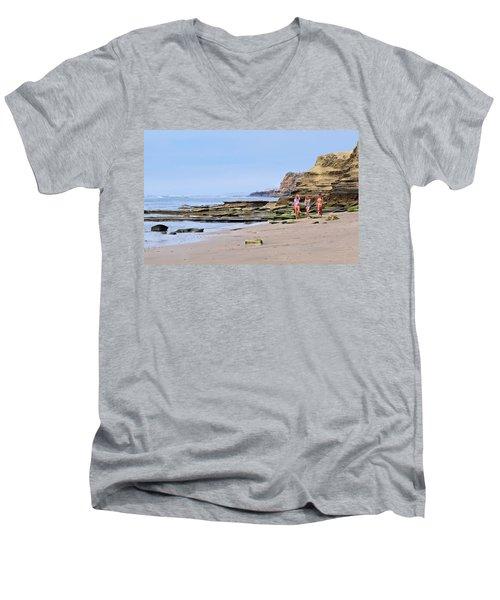 La Jolla Beach Walk Men's V-Neck T-Shirt