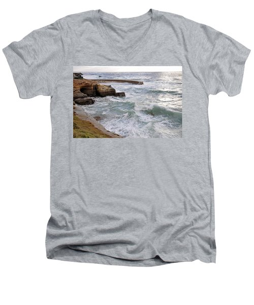 La Jolla Ca Men's V-Neck T-Shirt by Gandz Photography